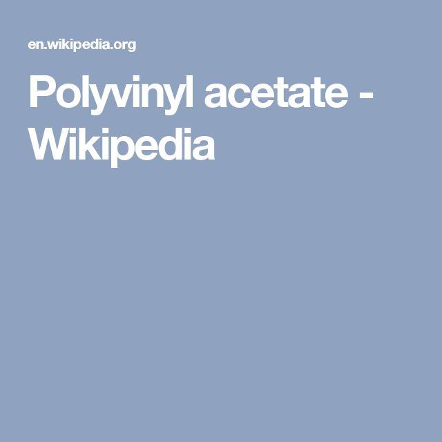 Polyvinyl acetate - Wikipedia