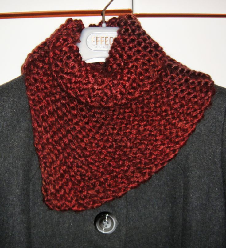 Handmade knitted cowl!