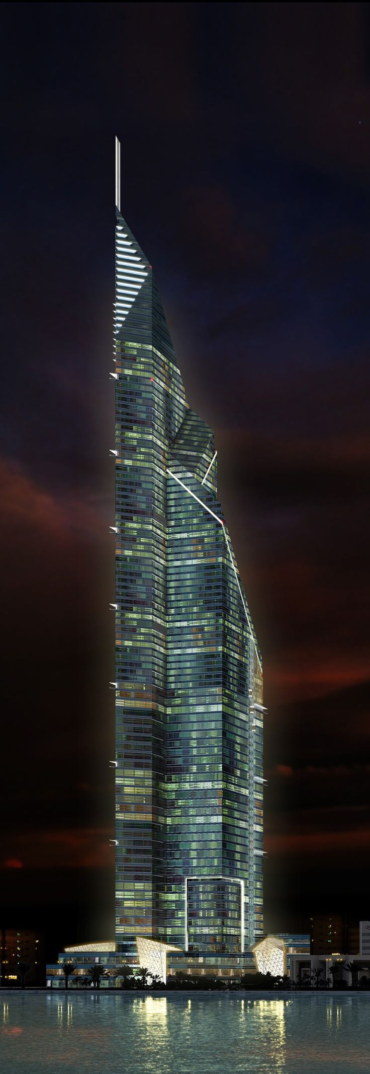Dubai Towers Doha, Qatar by RMJM Architects :: 84 floors, height 445m :: on hold