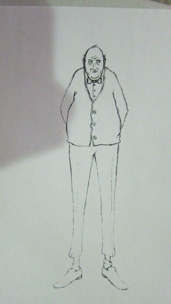 How I Became Invisible - Sketch of Super Ogorki by Anne Lalancette.