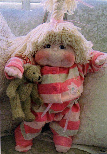 (puppet hair idea) Mimin Dolls: Dinky baby