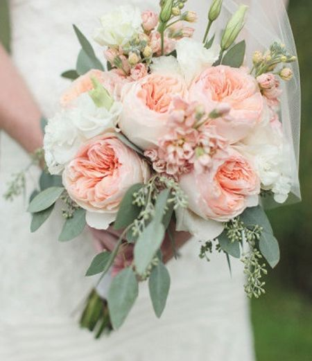 inspired by summer florals - Garden Rose Bouquet