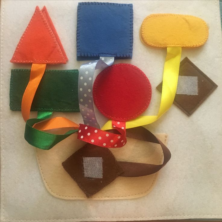 Shapes and colors. Velcro activity