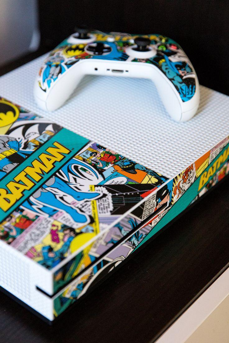 Batman Comic Book Xbox One S Console and Controller Bundle Skin. Shop now at www.skinit.com #dccomics #batman #xboxones