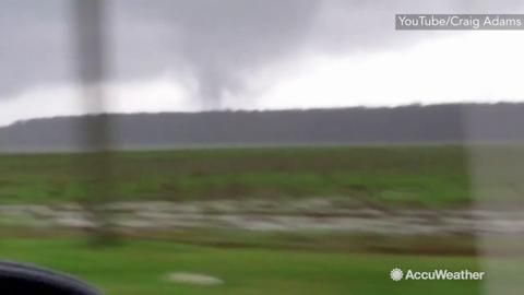 Dec 28, 2015; 2:50 PM ET A tornado was spotted in Santa Rosa County, Florida, on the morning of Monday, December 28, as severe weather rolled through the panhandle region.