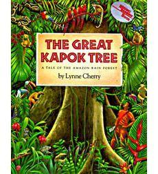 The Great Kapok Tree, dedicato alla memoria di un uomo che ha dato la vita per preservare parte della foresta pluviale. Disegni bellissimi, dettagliati e dai colori vivaci. La storia narra di un uomo che, mentre dorme sotto il kapok prima di abbatterlo, viene avvicinato da vari animali che gli sussurrano perché quell'albero è importante per loro. Alla fine, ovviamente, l'uomo cambia idea e non lo abbatte.