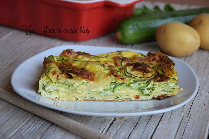 Sformato di patate, zucchine e prosciutto cotto