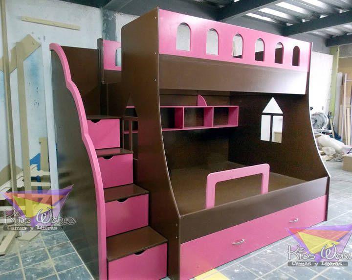 Litera juvenil chocolate con fresa (De camas y literas infantiles kids world)