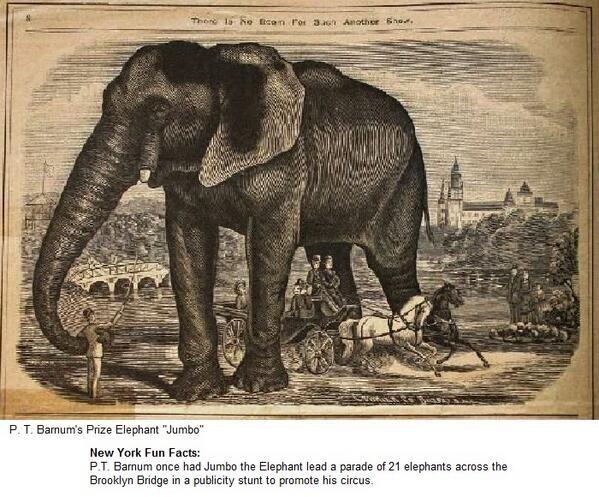 New York Fun Facts: P.T. Barnum had Jumbo lead a parade of ...