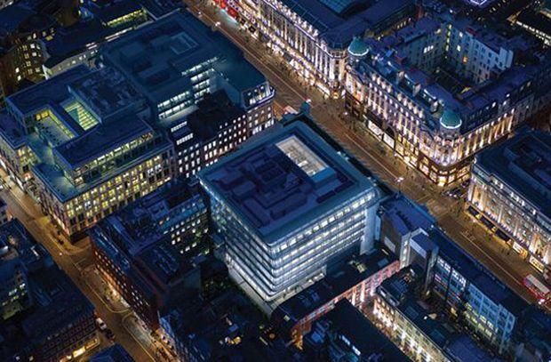 """En la categoría de """"Proyecto Futuro comercial de uso mixto"""", la victoria fue para una nueva oficina en el centro de Londres."""