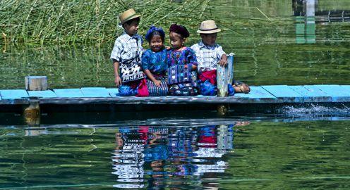 Bienvenidos en Santa Catarina Palopó, Lago Atitlán, Guatemala