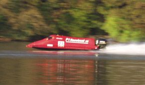 Coniston Power Boat Records Week, bringing together many classes of boats.