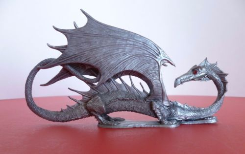 Vintage-Ral-Partha-Pewter-Winged-Dragon-D-amp-D-Dungeons-amp-Dragons-Figure-1986-RARE