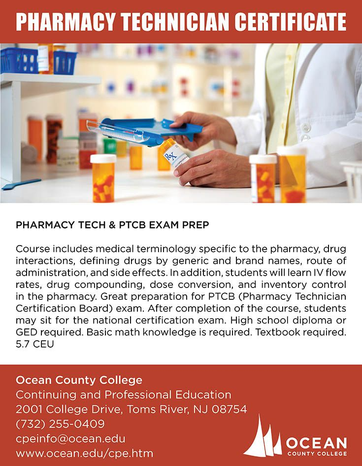 Become a Pharmacy Technician at Ocean County College | #Pharmacy ...