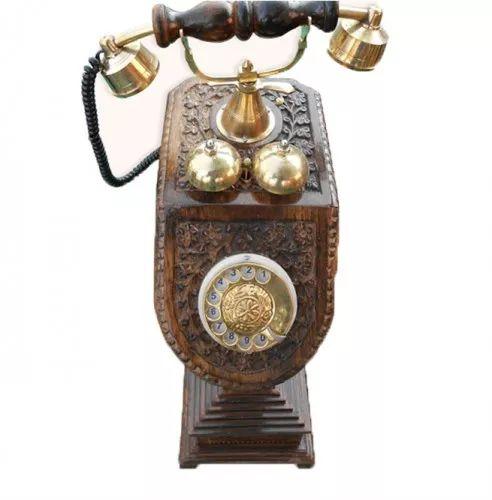 Antique Wooden Telephone Set