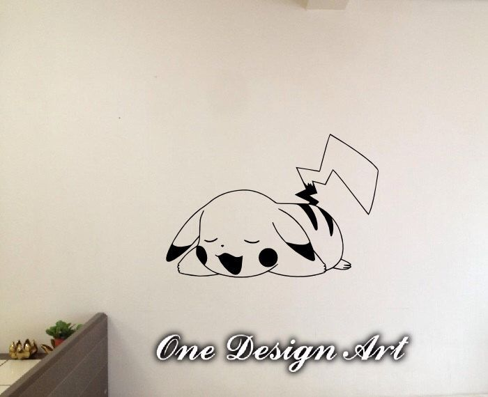 Pikachu Pokemon wall decals anime mural arts sticker for interior decor kids inspiration vinyl decal game Y045 by OneDesignArt on Etsy https://www.etsy.com/listing/229256695/pikachu-pokemon-wall-decals-anime-mural