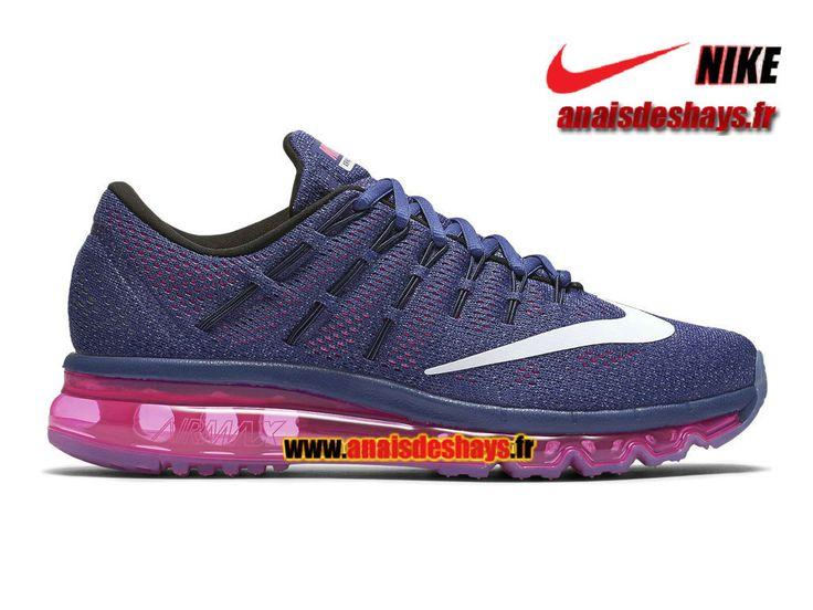 Boutique Officiel Nike Wmns Air Max 2016 Pour Femme/Fille Violet poudre sombre/Rose framboise/Bleu graphite/Blanc 806772-502
