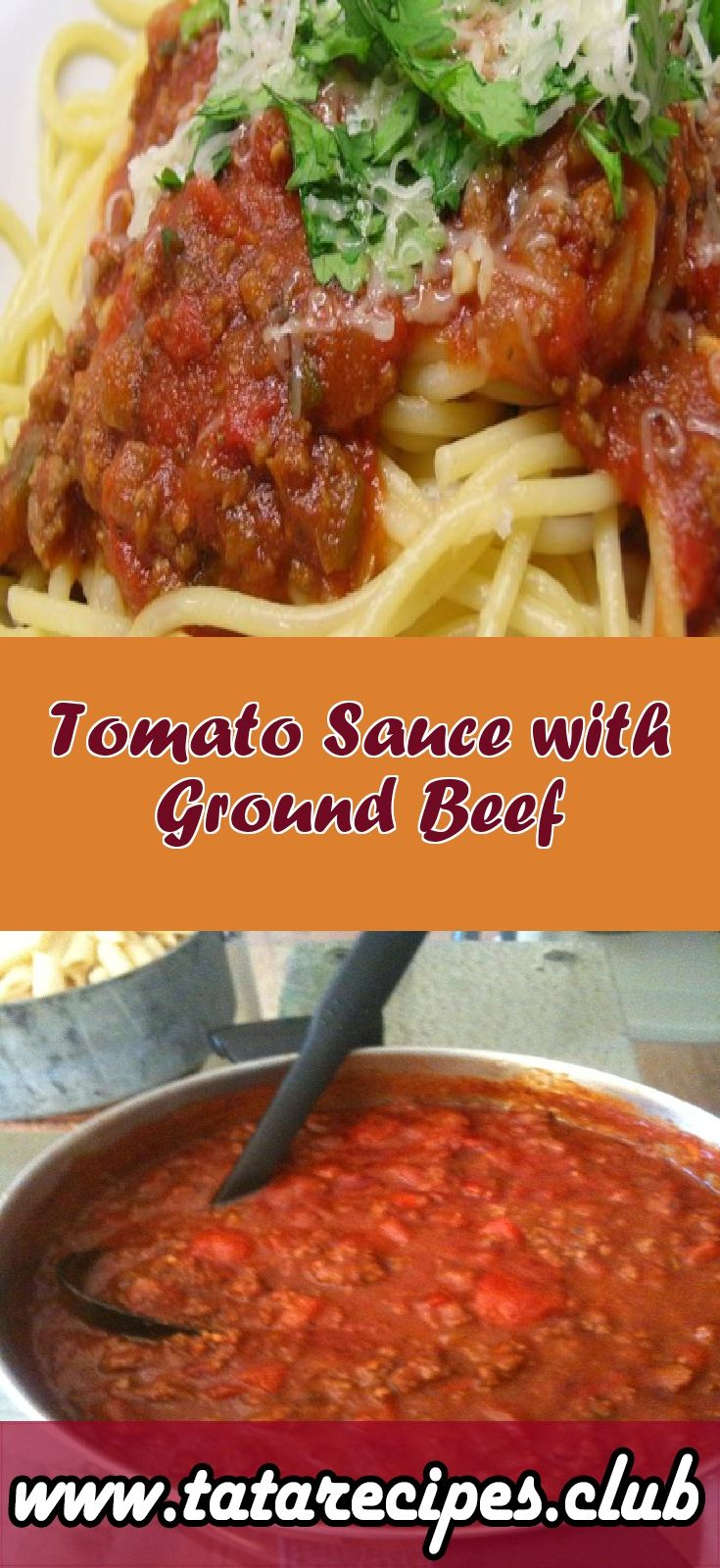 Tomato Sauce With Ground Beef Beef Recipes Ground Beef Recipes