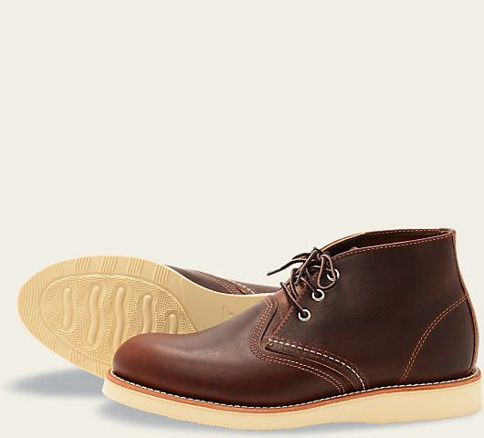 STYLE NO. 3141 : CLASSIC CHUKKA Rugged in heritage and casual in appearance, the 3141 features Red Wing's signature Atlas Tred polyurethane outsole, premium Briar Oil Slick leather and Goodyear welt c
