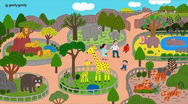 Goolygooly Illustration 動物園 イラスト 動物園 イラスト