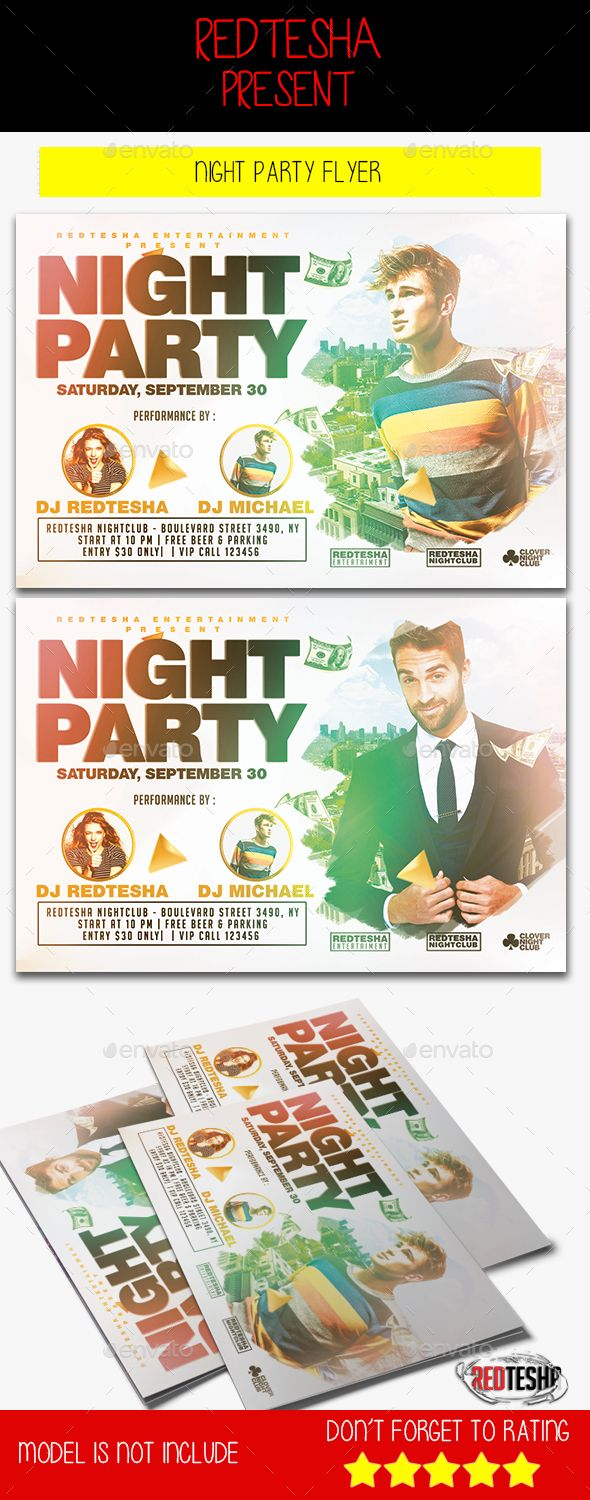 Night Party Flyer Template PSD #design Download: http://graphicriver.net/item/night-party-flyer/13080928?ref=ksioks
