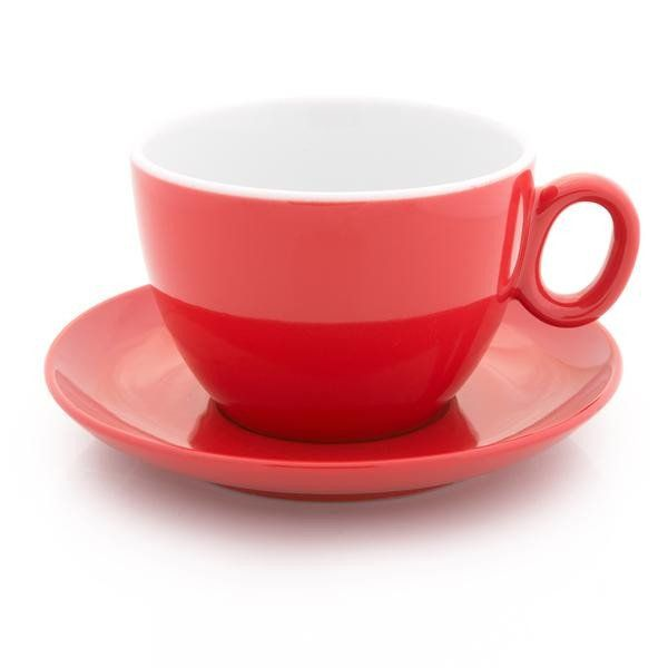 Inker red latte cup 12 oz demitasse