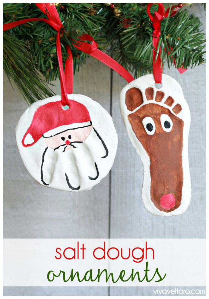 How to make salt dough ornaments - they're so easy and fun for kids!