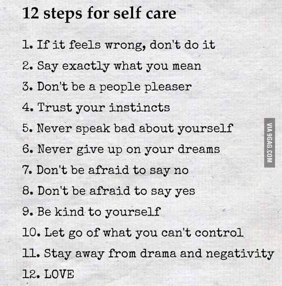 Quote: 12 Steps for Self Care