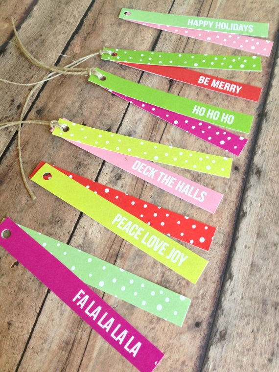 Holiday gift tags packaging supplies  polka dot by PrintSmitten, $10.00