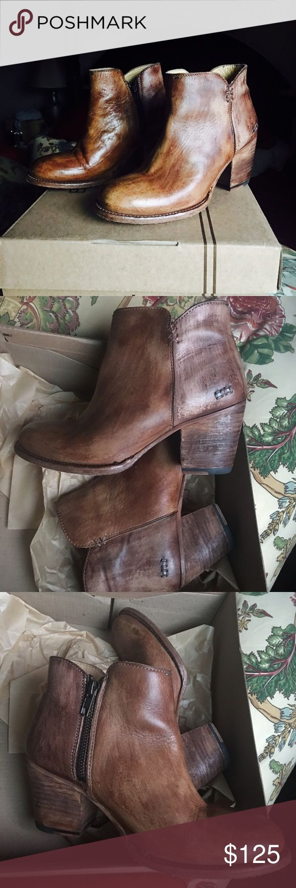Bed Stu Yell teak driftwood ankle boots These boots have been worn twice, they retail for $235, they are great with skirts, skinny jeans. They are kept in original box,also in great condition! Bed Stu Shoes Ankle Boots & Booties
