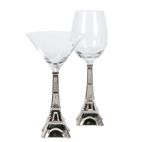 Eiffel Tower Stemware from Z Gallerie