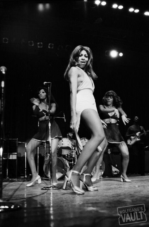 Tina Turner on stage, 1973. Photo by Joe Sia.