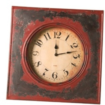 Elegant Distressed Metal Wall Clock