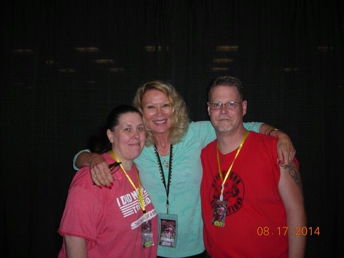 My wife Leslie Easterbrook and me