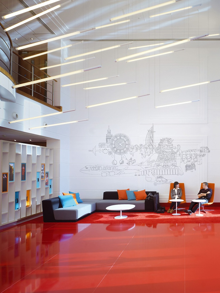 Design agency Checkland Kindleysides transformed receptions at Virgin Atlantic's global HQ into fresh and contemporary spaces, capturing the values, aspirations and spirit of the brand.