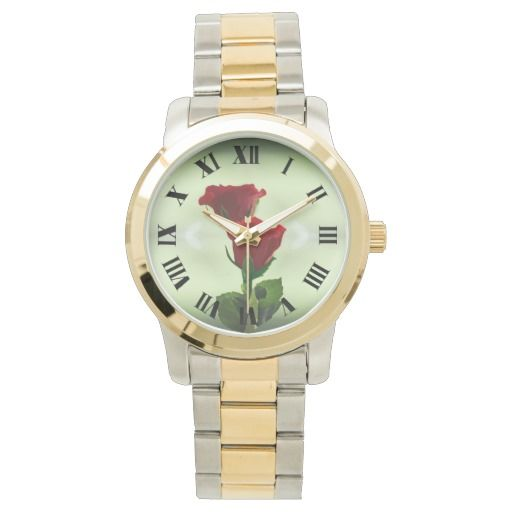 Twin Flame love red roses wrist watch