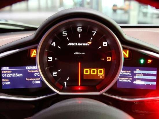 McLaren MP4-12C Fatest Super Car Interior Speedometer ...