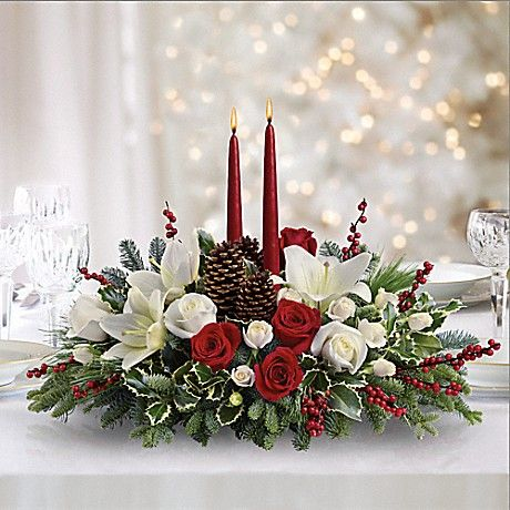 Christmas Wishes Centerpiece Bouquet Más