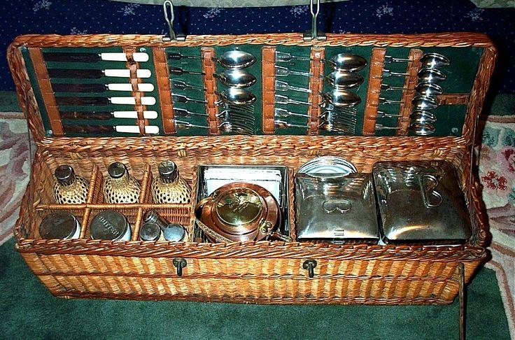 359 Best Vintage Luggage & Picnic Sets Images On Pinterest