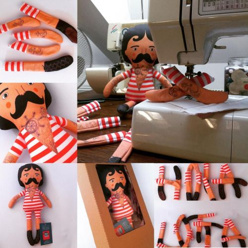 The circus man almost from the scratch. What tatoo should I get today?                                                  #strongman #weightlifter #fabricdoll #etsyseller #handmade  #crafting #handmadedoll #thehandmadeparade #sewingforkids  #handmadewithlove   #musthave  #musthaves