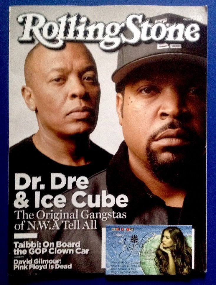 Rolling Stone Magazine NWA Compton Dr Dre Ice Cube Rap Hip Hop #1242 August 2015