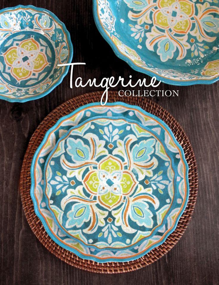 Le Cadeaux Melamine Collections #15: Le Cadeaux Tangerine Melamine Dinnerware Collection