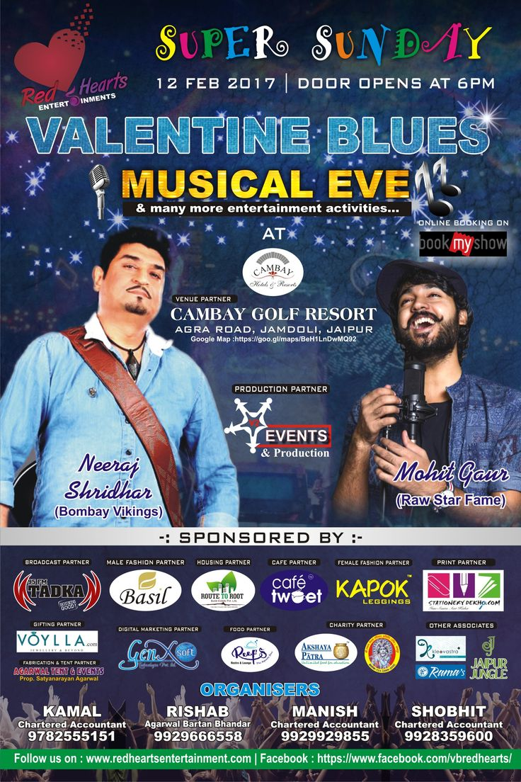 Get romantic Night with DJ Musical eve and have a memorable Valentine's Day for you and your loved one at Cambay Golf Resort Jamdoli Jaipur India