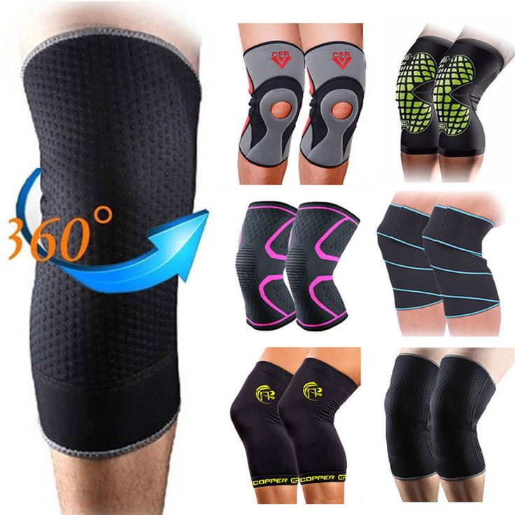 Knee Support Compression Sleeve Brace for RunningGymSports Joint Pain Relief