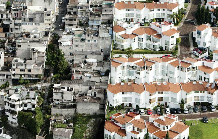 'barrio rico, barrio pobre': estas imágenes (sin photoshop) muestran las enormes…