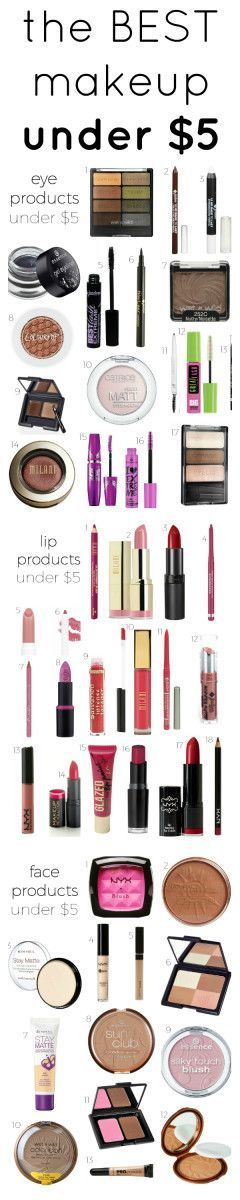 This list of seven $5 makeup products is THE BEST! I've already saved SO MUCH money! I'm so happy I found this GREAT post! Now I can stick to my budget. Definitely pinning!