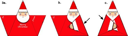 Origami n' Stuff 4 Kids: Christmas: Origami Santa Gift Tag or Christmas Card