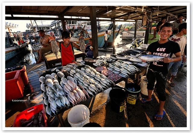 Jetty in Semporna - Fish Market