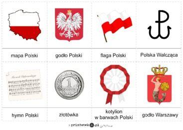 Symbole Polski - karty obrazkowe - Printoteka.pl