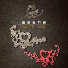 Esquinas de metal troquelado corazón scrapbooking carpeta de grabación en relieve juego para fustella big shot sizzix muere máquina de corte(China (Mainland))